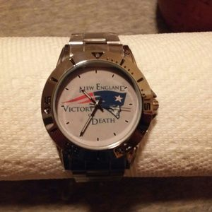 New England Patriots Stainless Steel Wristwatch